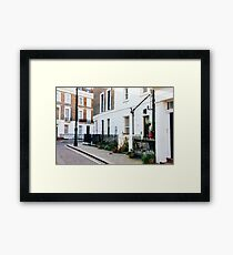 London Residential Street Framed Print