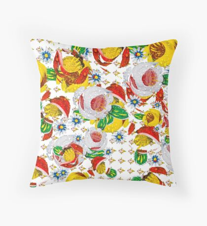 Canal flowers chaos pattern  Throw Pillow
