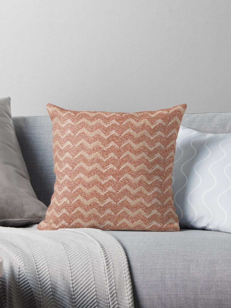 Sparkle chevron rose gold by peggieprints