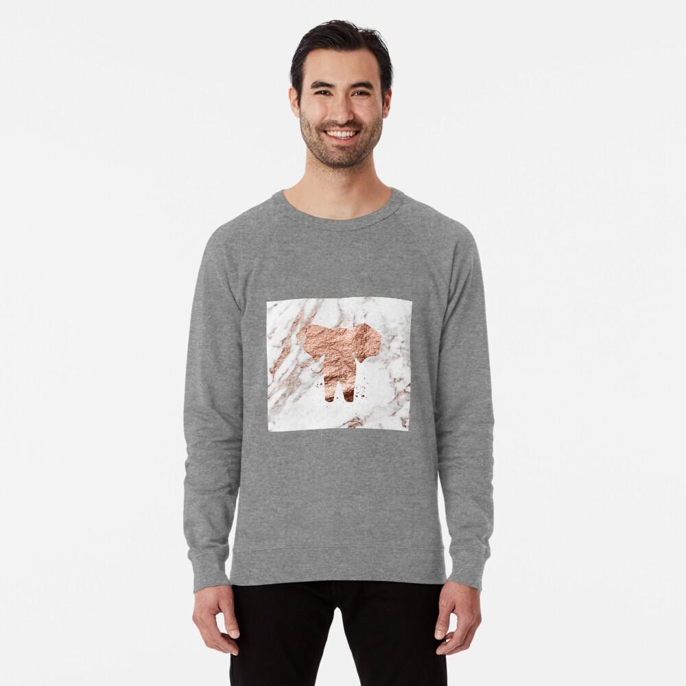Elefant - Roségold Marmor Leichter Pullover