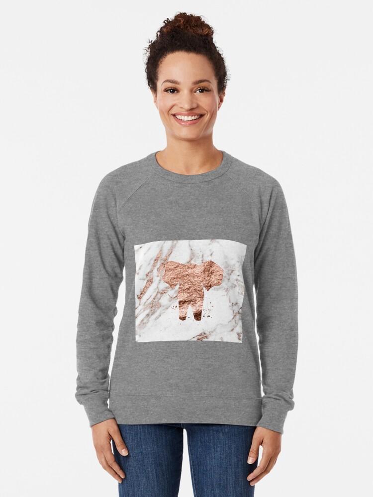 Alternative Ansicht von Elefant - Roségold Marmor Leichter Pullover