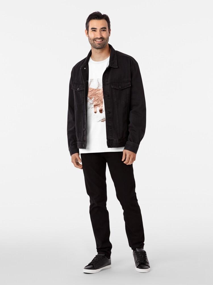 Alternative Ansicht von Elefant - Roségold Marmor Premium T-Shirt