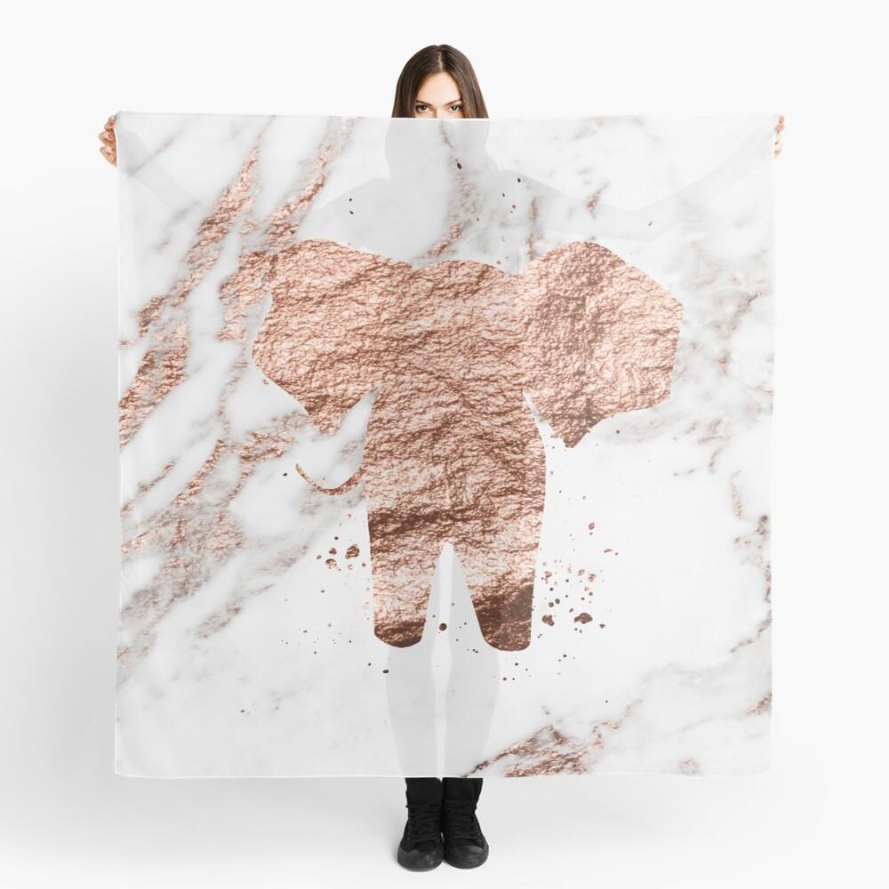 Elefant - Roségold Marmor Tuch