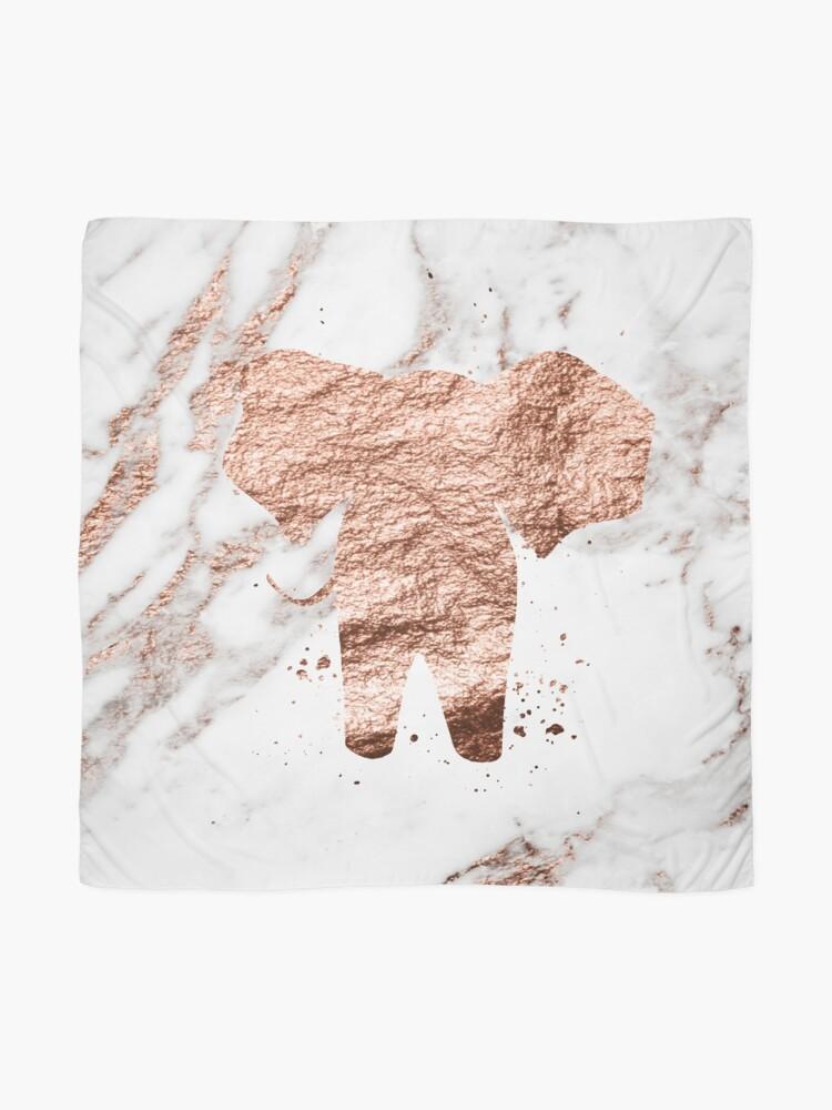 Alternative Ansicht von Elefant - Roségold Marmor Tuch