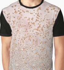 Mixed rose gold glitter gradients Graphic T-Shirt