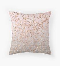 Cojín Gradientes mezclados del brillo del oro color de rosa
