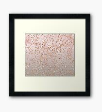 Mixed rose gold glitter gradients Framed Print