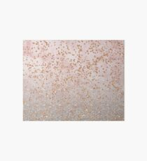 Mixed rose gold glitter gradients Art Board