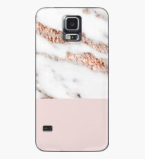 Blushing rose gold marble II Case/Skin for Samsung Galaxy