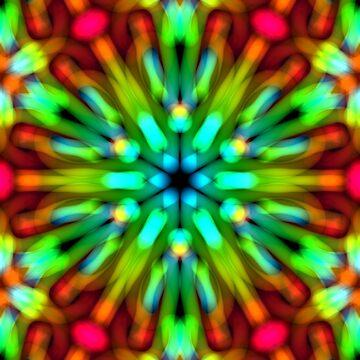 Psychedelic Pattern, Ornament, Mandala, Design, Art, Flower, Fantasy, Magic, Geometry, Rainbow by lavalova