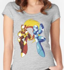 Mega Man And Zero — 01 Women's Fitted Scoop T-Shirt