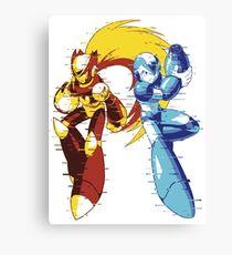 Mega Man And Zero 01 [Glitch Remix Ver] Canvas Print