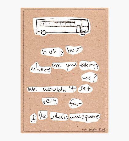 Bus, Bus Photographic Print