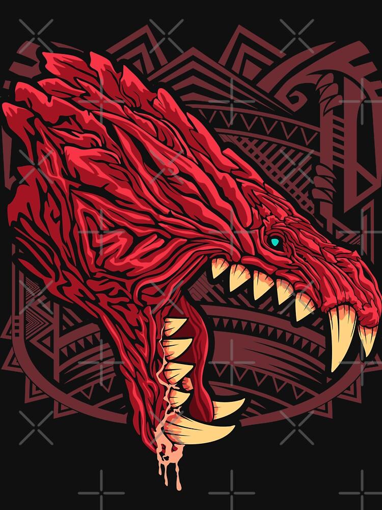 Odogaron MHW Kopfseite T-Shirt von Dandeelion | Redbubble