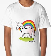 Unicorn and Rainbow Long T-Shirt