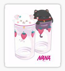 Nana & Hachi - Strawberry glasses Sticker