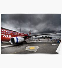 Stormy Departure - Sydney Airport, Australia. Poster