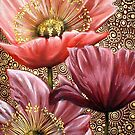 Three Pink Poppies by Cherie Roe Dirksen