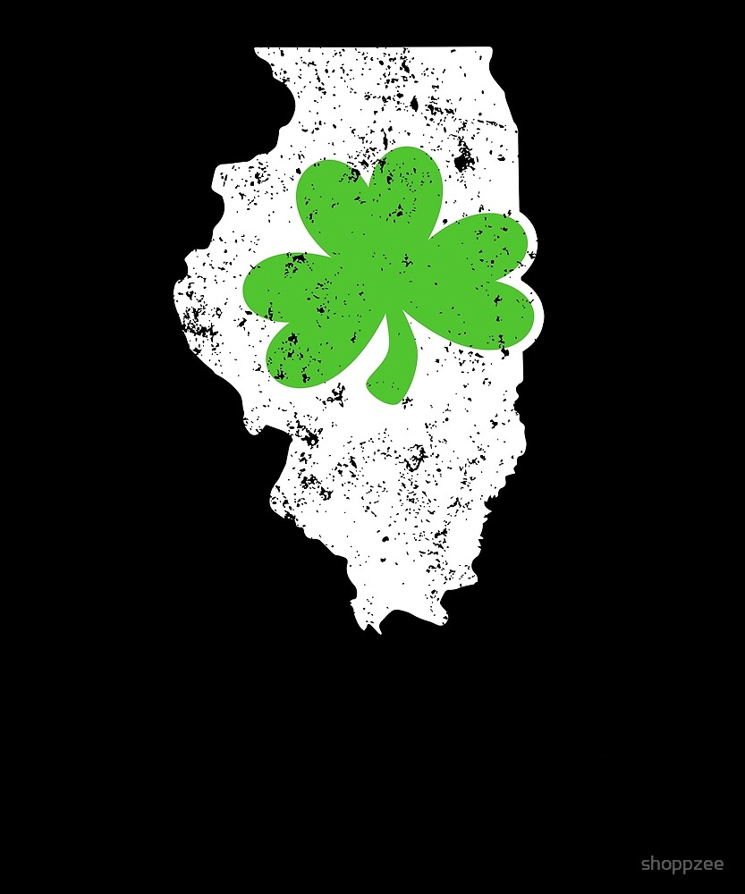Shamrock T Shirt Illinois Ireland Irish St Pattys Shirt by shoppzee