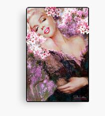 Marilyn Cherry Blossoms Pink Canvas Print