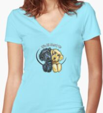 Labradoodles Black Yellow IAAU Women's Fitted V-Neck T-Shirt
