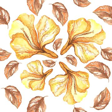 watercolor yellow flowers by lex-sky