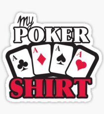 POKER shirt Sticker