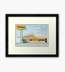 Mulholland drive Winkie's Diner alternative movie poster Framed Print