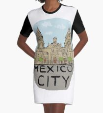 Mexico City Graphic T-Shirt Dress