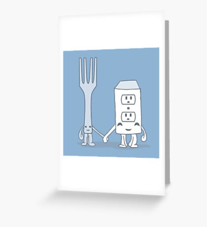 The Cutest Couple: Fork & Electrical Outlet Greeting Card