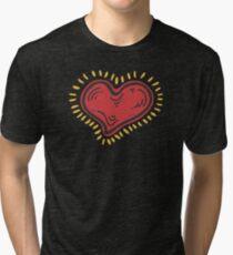 Red Shiny Heart Tri-blend T-Shirt