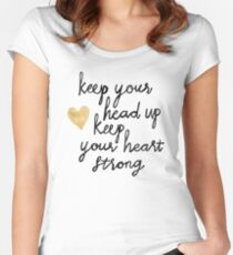 Keep Your Head Up Women's Fitted Scoop T-Shirt