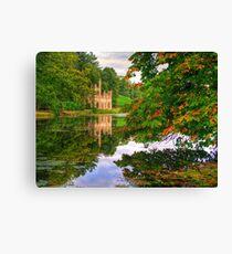 Painshill Park - HDR - Autumn Reflections Canvas Print