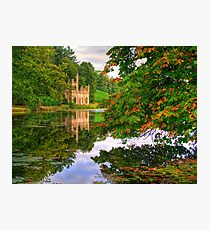 Painshill Park - HDR - Autumn Reflections Photographic Print