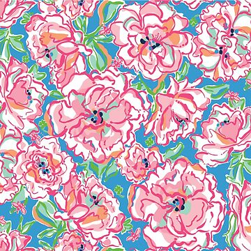 Floral Pink Pattern Lily by abbyconnellyy