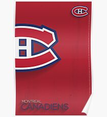 Montreal Canadiens Minimalist Print Poster
