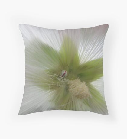 Spider and flower in harmony Throw Pillow