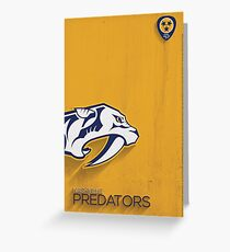 Nashville Predators Minimalist Print Greeting Card