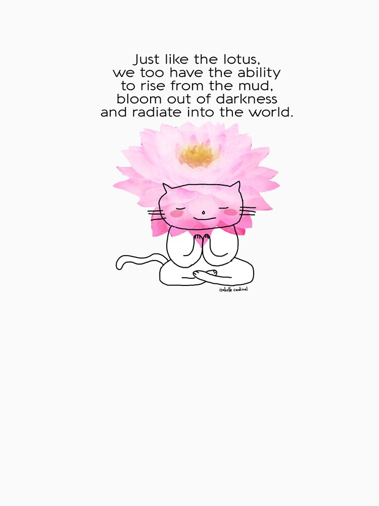 Just Like The Lotus Flower A Zen Drawing Cat Doodle Womens