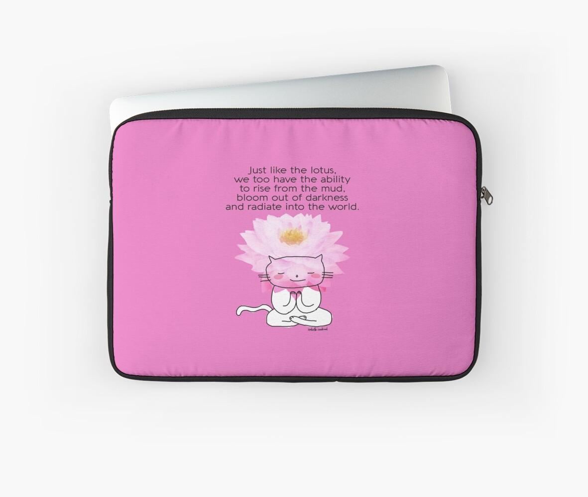 Just like the lotus flower a zen drawing cat doodle laptop just like the lotus flower a zen drawing cat doodle by eyecreate izmirmasajfo