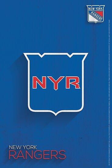 New York Rangers Minimalist Print by SomebodyApparel