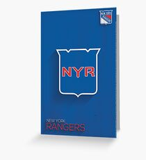 New York Rangers Minimalist Print Greeting Card
