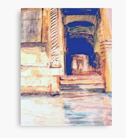 Venetian Doorway   /  Watercolor     ( My Paintings ) Canvas Print