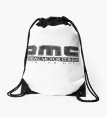 DeLorean Motor Company - Black Dirty Drawstring Bag