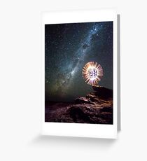 An orb and the Milky Way Greeting Card