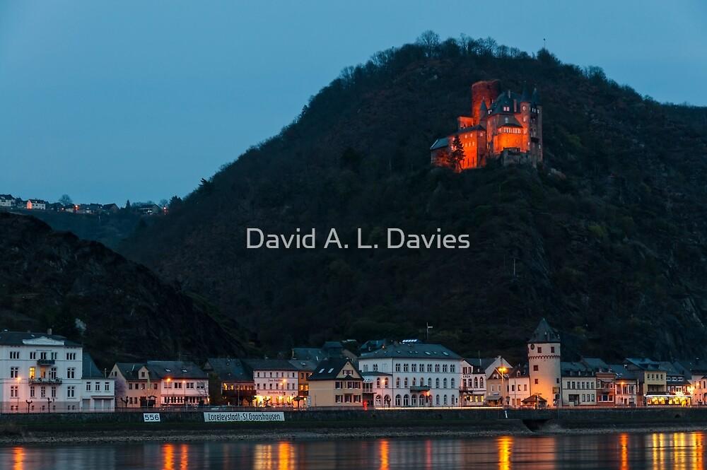 St. Goarshausen & Katz Castle, Germany. by David A. L. Davies