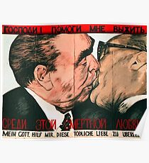 Fraternal Kiss Poster