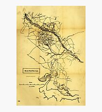 Map of the Civil War Seven Days' Battles (June 25 - July 1, 1862) Photographic Print