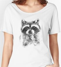 Surprised raccoon Women's Relaxed Fit T-Shirt