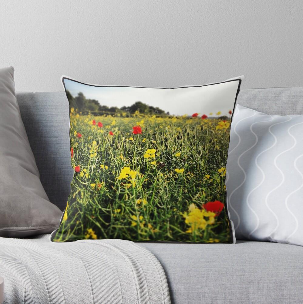 Wildblume Dekokissen